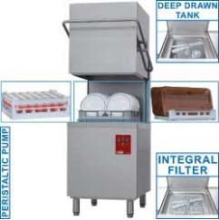 DK7/6 típusú ipari, nagykonyhai, Tányér és pohármosogató gép