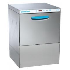 Hoonved CE60 OPTI típusú, ipari- nagykonyhai tányér és pohármosogató gép, mosogatószer adagolóval