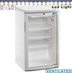TOP200/T típusú ipari, nagykonyhai, Kereskedelmi üvegajtós hűtőszekrény