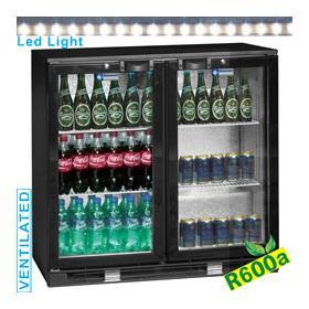 TAB2/D-R6 típusú ipari, nagykonyhai, Kereskedelmi üvegajtós hűtőszekrény
