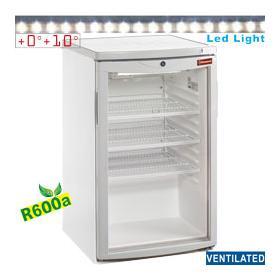 TOP200/R6 típusú ipari, nagykonyhai, Kereskedelmi üvegajtós hűtőszekrény