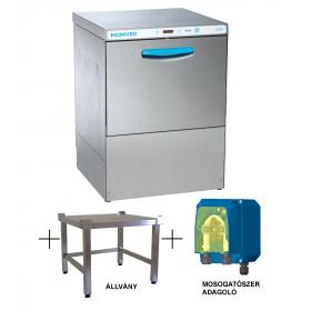 Hoonved CE60 FULL állvány típusú ipari nagykonyhai tányér- és pohármosogatógép