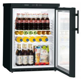 Liebherr FKUv 1613 var. 744 típusú, kereskedelmi, üvegajtós hűtőszekrény
